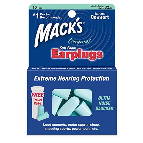 Mack's Original Schaumstoff-Ohrstöpsel, weich–Packung mit 10Paar