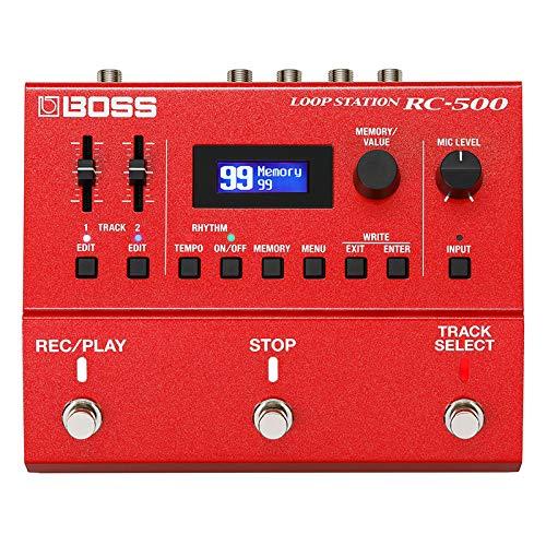 Boss RC-500 Loop Station - Pedal Looper de 2 vías y cable para guitarra keepdrum (3 m)