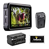 Atomos Ninja V 5' 4K HDMI Recording Monitor with NP-F770 Lithium-Ion Battery Pack, Compact AC/DC Charger & Screen Cleaning Wipes