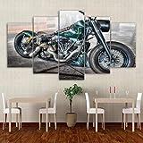 YUXIXI Motocicleta Moto Cross Canvas Set De 5 Cuadros Cuadro En Lienzo Detrás De La Cortina, Arte para Pared, Cuadro Impresión, Cuadro Decoración*/