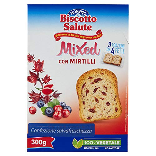 Monviso Biscotto Salute Mixed Con Mirtilli - 300 g