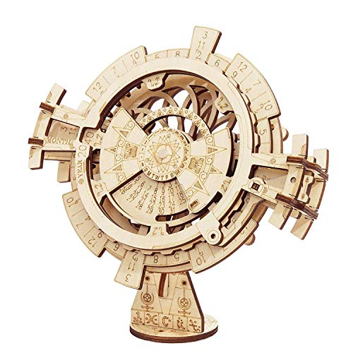 Perpetual Calendar 3D Wooden Puzzles, Mechanical Models, Assembly Wooden Model Kits for Adults to Build Collectible 3D Puzzle For Teens and Adults
