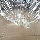 MWyanlan Lona Transparente Lonas, a Prueba de Lluvia Tejido Grueso Lluvia PVC Blando Exterior de plástico Ventana Parabrisas Refugio Balcón Cortina Impermeable-0.5mm+1m*1.5m