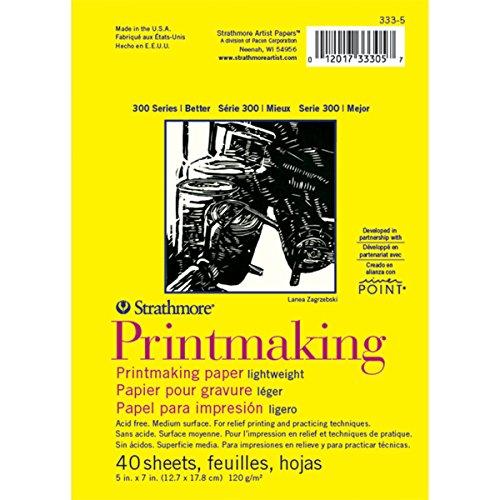 Strathmore (333-5 300 Series Lightweight Printmaking, White , 5'x7', 40 Sheets