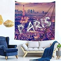パリ タペストリー 多機能壁掛け おしゃれ 室内装飾 モダンなアート 壁掛け壁画 インテリアの装飾 部屋 居間 玄関 浴室 お店 飾り 150X150CM