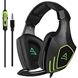 [2017 SUPSOO Xbox One PS4 Auricolare stereo di gioco] G820 Bass Gaming con microfono di isolamento a rumore per un nuovo lettore Xbox One PC PS4 per Mac PC iPad iPod