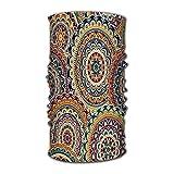 Lmtt Moda tropical unisex con rodajas de sandía de flamenco de acuarela y hojas de palma Sombrero de secado rápido Bandana mágica para exteriores