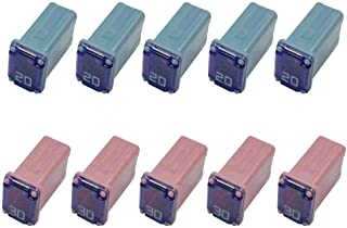 10 Pack Automotive Micro Cartridge Fuses Low-Profile FMM Fuses Kit MCASE Type(5 pcs 20Amp 5 pcs 30 Amp)