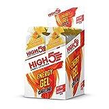 HIGH5 Energy Power Gel Koffein, schnell und dauerhafte Energie im leicht zu öffnenden Portionsbeutel, mit natürlichem Fruchtsaft – Multipack 20x40g (Orange Koffein)