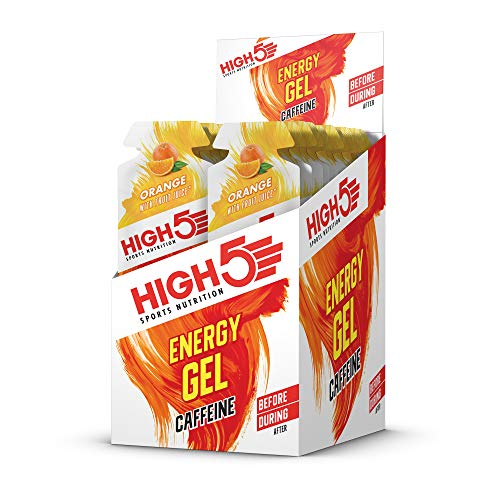 High5 Energy Gel 20 geles x 40 gr - Sabor - Naranja Plus-Cafeína