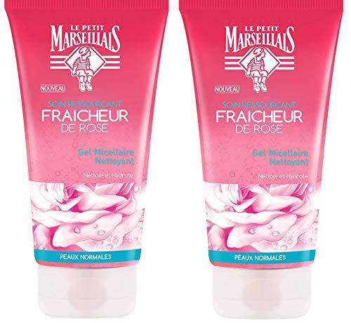 Le Petit Marseillais Gel Micellaire Nettoyant Fraicheur Rose Pot 150 ml - Lot de 2