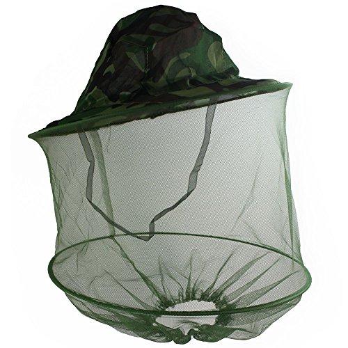 Mosquito Net Head Sombrero, encargado de la abeja sombreros de secado rápido del cubo del sombrero de Sun con la red del acoplamiento para los hombres y de las mujeres, la selva de la mascaril