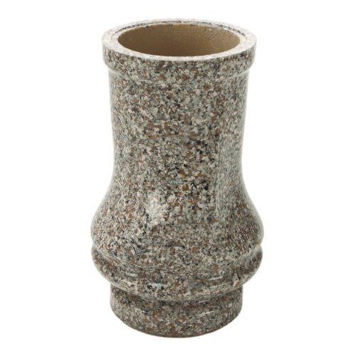 Vaso per tomba Pinus resina sintetica finto granito bainb Rock Marrone 18x 27cm