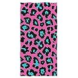 Naanle Beautiful Cheetah Skin Leopard Print Soft Bath Towel...
