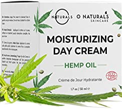 O Naturals Organic Face Moisturizer Hemp Oil Day Face & Neck Anti-Aging Cream. Hyaluronic Acid Hydrating Relives Dry Skin. Boost Collagen, Prevent Signs of Aging Women & Men Skin Care 1.7oz