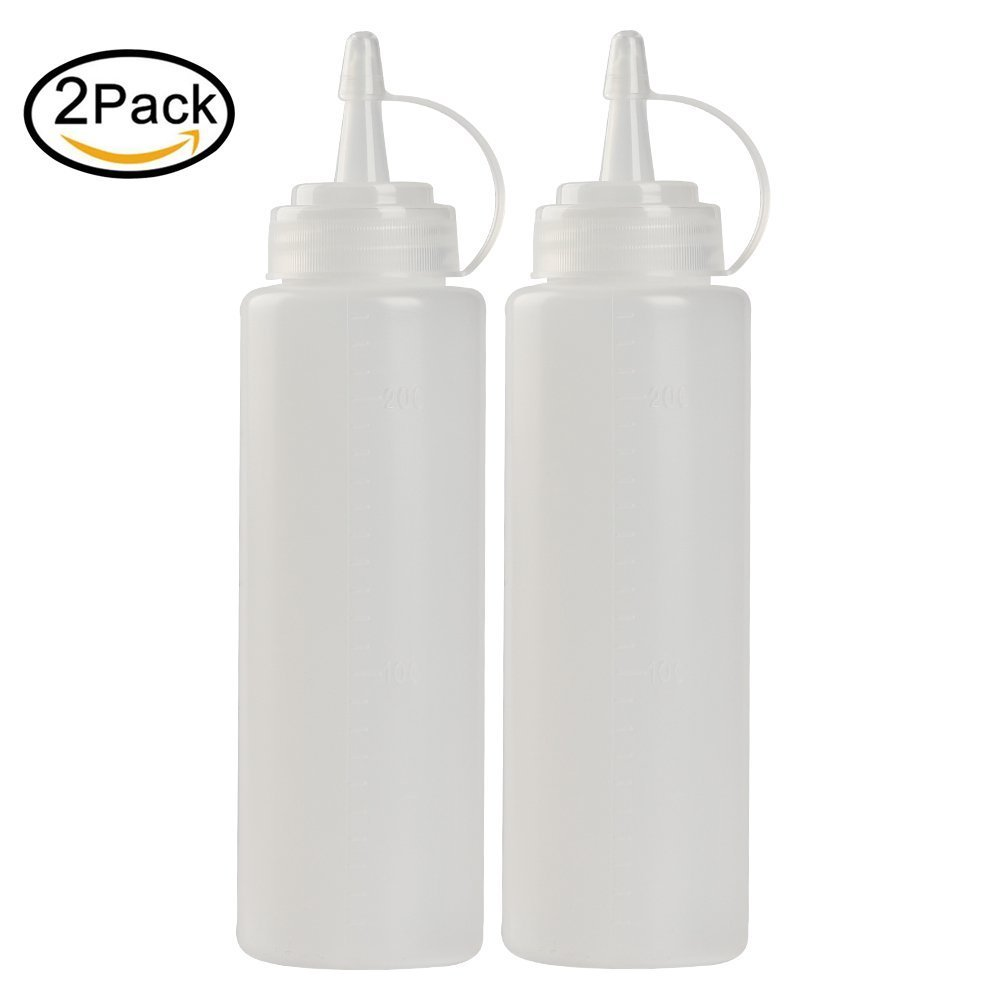 For Ketchup Mustard Mayo Hot Sauces Oil Bottles 2pcs Condiment Squeeze Bottles