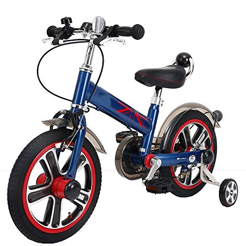 Lowest Prices! Axdwfd Kids Bike 14 Inch Kids Bike with Training Wheels, Freestyle Bicycle, for 3-6 Years Old Boys and Girls (Color : Blue)