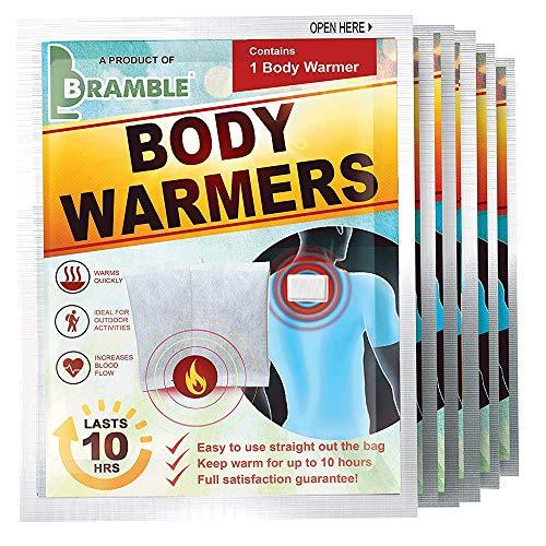 Bramble 12 Pièces - Chauffe-Corps - Réchauffe Mains Pieds Dos Cou Épaules - Adhésif, Écologique, Activé par Air, 100% Naturel - Jusqu'à 10 Heures de Chaleur Apaisante - Patch Échauffement Corporel.
