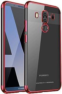 جراب Huawei Mate 10 Pro، جراب Ikwcase فائق النحافة مصنوع من مادة TPU بطبقة شفافة لهاتف Huawei Mate 10 Pro أحمر