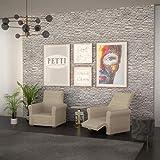 PETTI Artigiani Italiani Sesselüberwurf, Creme, Sessel von 80 bis 100 cm - 4