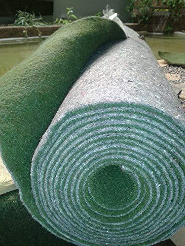 Teichbauzentrum Sankt Julian Ufermatte grün Breite 2 Meter Länge 8 Meter Randbaumatte Teichmatte