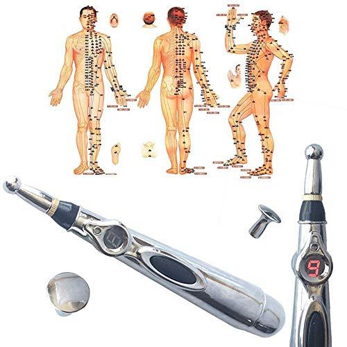 WHCCL Laser Acupunctuurstift Moxibustion Massage Agopunto, krachtige Meridian Energy Pen Verlichting Pain Tools2 Teste (zonder batterij AA)