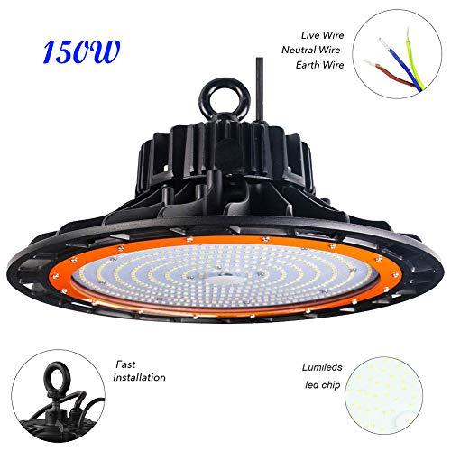 Canlanda LED UFO Industrielampe High Bay Licht 150W 20250LM IP65 Kaltweiß LED Hallenleuchte/LED SMD Hallenstrahler, SMD 2835 Abstrahlwinkel 120°
