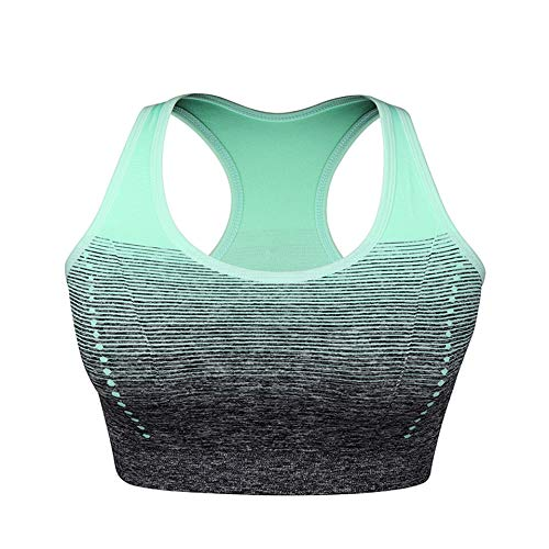Meijin Sportweste Laufweste Yoga BH Pad Unterwäsche Sport BH Damen Fitness Fitness Top Atmungsaktiv Training Weste Sportweste (Farbe: Grün, Größe: XL)