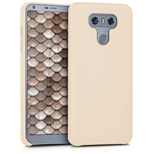kwmobile Funda Compatible con LG G6 - Carcasa de Cuero sintético para móvil - Cover en Beige