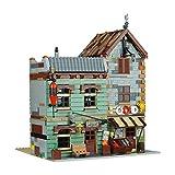 LTGO MOC-40048 Bait Shop and Grocery - Juego de construcción de maquetas, 1991 piezas, vista de calle, edificios, juguete de construcción compatible con tienda de pesca Lego 21310