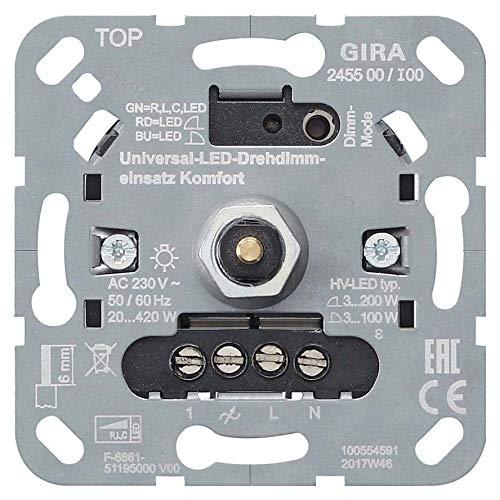 Gira LED-Univers.-Dimmereinsatz 245500 Komfort Dimmer 4010337031413