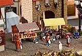 Faller FA180614 - Wochenmarkt II Blumen- und Käsestand -