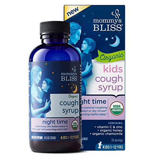 Mommy's Bliss - Organic Kids Cough Syrup Night Time - 4 FL OZ Bottle
