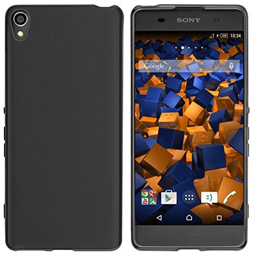 mumbi Hülle kompatibel mit Sony Xperia XA Handy Case Handyhülle, schwarz