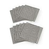 Plus Plus Bauplatten 12 Stück Farbe Grau, Bausteine Konstruktionsmaterial