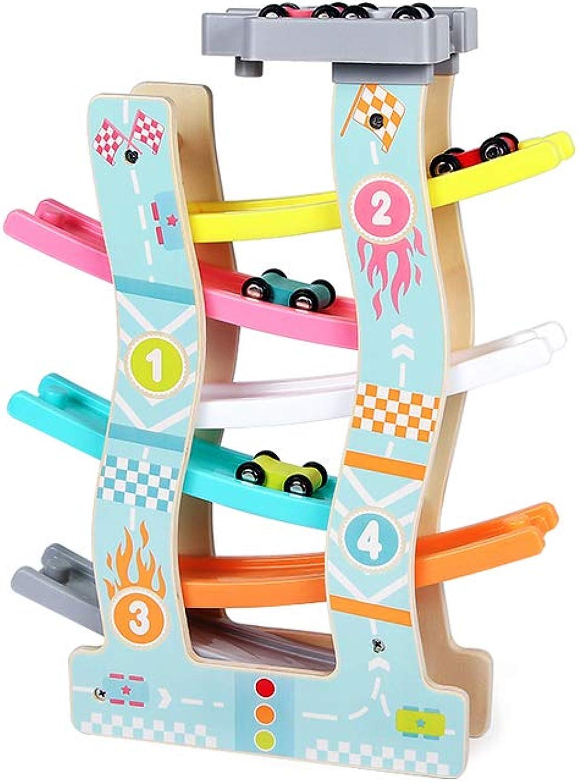 LINGLING-Pista Giocattolo per Bambini Trolley per Vacanze Puzzle Gioco Giocattolo di plastica per Bambini da 2 Anni (Dimensioni   6 Tracks)