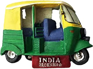 Refrigerator Magnets Resin 3D Funny TukTuk India City Tourist Souvenirs Fridge Stickers Magnetic Fridge Magnet for Whiteboard Home Kitchen Decoration Accessories Gifts