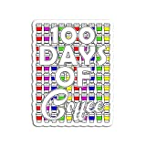 Hand Wooden Customizable Sticker Coffee Teacher 100 Cups 100th Day School Stickers for Personalize (3 pcs/Pack)