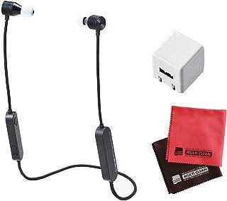 【セット】キングジム デジタル耳せん 黒 MM2000クロ + キューブ型AC充電器 + クロス