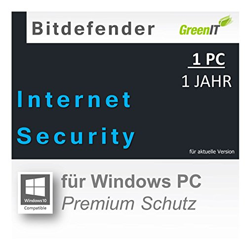 Bitdefender Internet Security 2016 1 PC 1 Jahr |OEM|PKC|EFS|ML