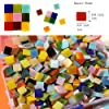 Lanyani 1050 Pieces Mixed Shapes Glass Mosaic Tiles for Crafts, Colorful Stained Glass Pieces for Mosaic Projects #3