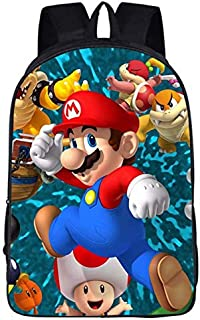 Super Marie kids travel bag cute Mario pattern large capacity child student backpack