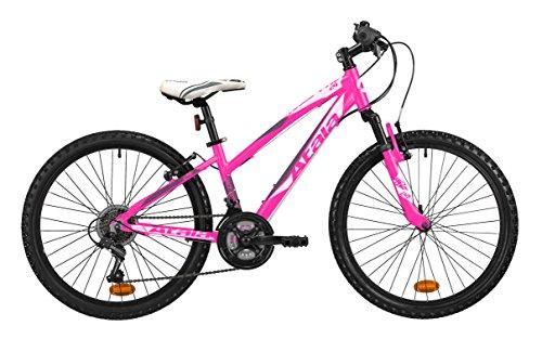 Mountain bike da ragazza Atala RACE COMP 24', colore rosa fuxia - antracite, indicata fino ad un'altezza di 140cm