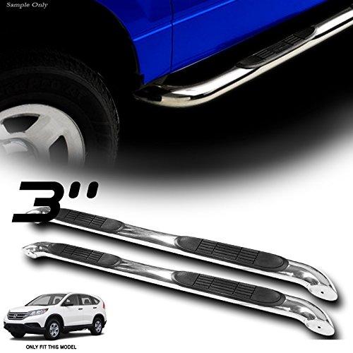 """VXMOTOR for 12-15 Honda CRV CR-V - Heavy Duty 3"""" Chrome T304 SS Side Step NERF Bars Rail Running Boards"""