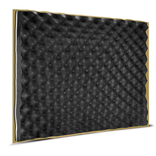 TroyStudio Soundproofing Foam - |Eggcrate Acoustic Closed Cell Foam Panel| - |Triple Noise Insulation| - |Super Dense| - |Self-adhesive| - 19'' X 16'' X 0.7''