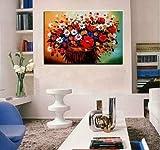 N / A Peinture sans Cadre Abstrait décoration Florale sans Fleurs sur Toile pour la décoration de la maison31X42cm