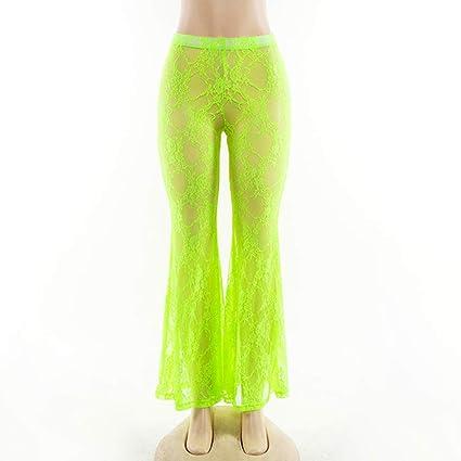 Zysymx Conjunto Mujer Correa Spaghetti Neon Greenjapones Conjunto De Lenceria Delgada Bordado Push Up Pantalones Verdes M Amazon Es Hogar