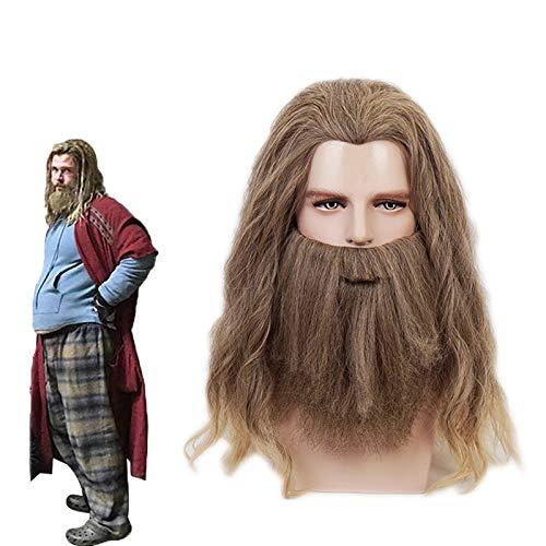 Pelcula Avengers 4 Endgame Loki Thor Cosplay Fat Thor pijamas disfraz peluca Halloween carnaval disfraces juego de rol pelucas de barba