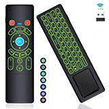 RGB Backlit Gyro Air Remote Mouse Mini Keyboard Remote Touchpad, T6+ 2.4GHz Wireless USB Remote Control for Windows PC,Android TV Box,Mac Mini,KD Box,Laptop,HTPC,Raspberry Pi 3 4