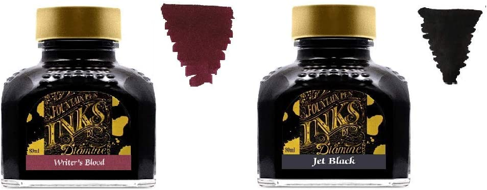 Diamine Fountain Pen Ink 80ml Max 43% OFF - Max 60% OFF x 2 Blood Writers Bottles Je